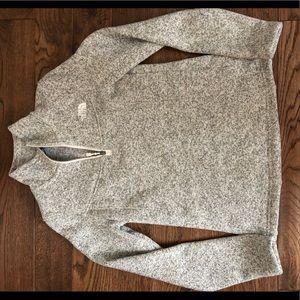 Fleece, north face, half zip.